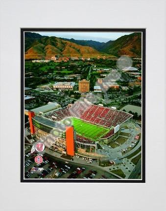 "Rice-Eccles Stadium Utah Utes 2008 Double Matted 8"" x 10"" Photograph (Unframed)"