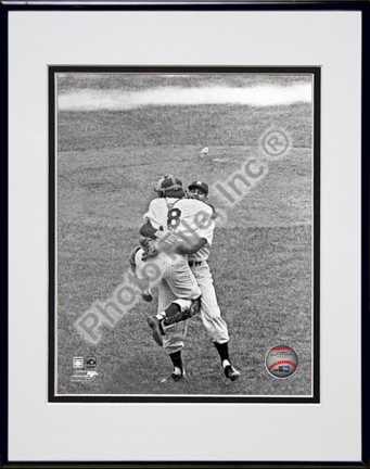 """Don Larsen and Yogi Berra """"Game 5 of the 1956 World Series Perfect Game"""" Double Matted 8"""" x 10"""" Photograph"""