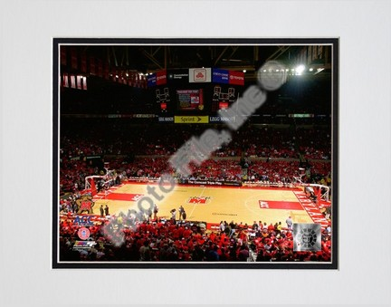 """Comcast Center Maryland Terrapins 2007 Double Matted 8"""" x 10"""" Photograph (Unframed)"""