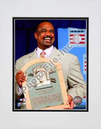 """Jim Rice 2009 Hall of Fame Induction Ceremony Double Matted 8"""" x 10"""" Photograph (Unframed)"""