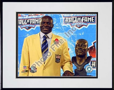 """Bruce Smith """"2009 NFL Hall of Fame Induction Ceremony"""" Double Matted 8"""" x 10"""" Photograph (Unframed)"""