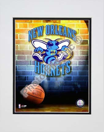 "2009 New Orleans Hornets Team Logo Double Matted 8"" x 10"" Photograph (Unframed)"