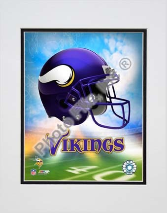 "2009 Minnesota Vikings Team Logo Double Matted 8"" x 10"" Photograph (Unframed)"