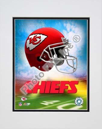 """2009 Kansas City Chiefs Team Logo Double Matted 8"""" x 10"""" Photograph (Unframed)"""
