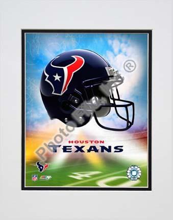 "2009 Houston Texans Team Logo Double Matted 8"" x 10"" Photograph (Unframed)"