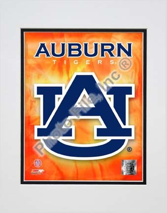 "Auburn Tigers ""Team Logo"" Double Matted 8"" x 10"" Photograph (Unframed)"