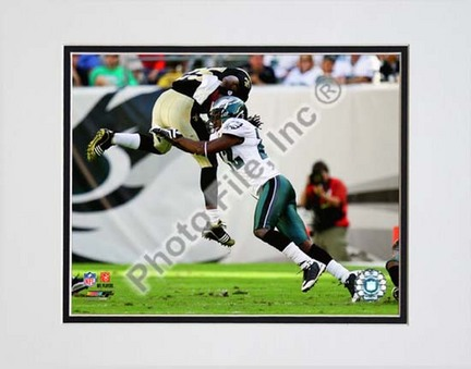 "Asante Samuel """"2009 Action vs. New Orleans Saints"""" Double Matted 8� x 10� Photograph (Unframed)"" PHF-AALQ204-33"
