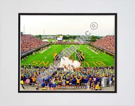 """University of Delaware Fightin' Blue Hens 2008 """"Tubby Raymond Field""""   Double Matted 8"""" x 10"""" Photograph ("""