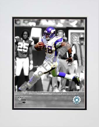 """Adrian Peterson 2009 Spotlight Collection Double Matted 8"""" x 10"""" Photograph (Unframed)"""