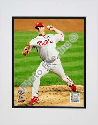 Cliff Lee Game 1 of the 2009 World Series Action (#3) Double Matted 8� x 10� Photograph (Unframed) PHF-AALV013-33