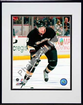"""Bobby Ryan 2009 - 2010 Action """"Home"""" Double Matted 8"""" x 10"""" Photograph in Black Anodized Aluminum Frame"""