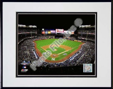 "Yankee Stadium Game Six of the 2009 MLB World Series (#22) Double Matted 8"" x 10"" Photograph in Black Anodized Alumi"
