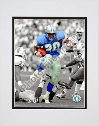 """Barry Sanders Spotlight Collection Double Matted 8"""" x 10"""" Photograph (Unframed)"""