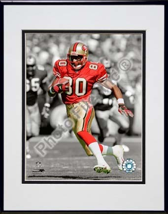 "Jerry Rice Spotlight Collection Double Matted 8"" x 10"" Photograph in Black Anodized Aluminum Frame"