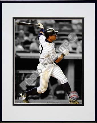 "Alex Rodriguez ""Spotlight Action"" Double Matted 8"" x 10"" Photograph in Black Anodized Aluminum Frame"