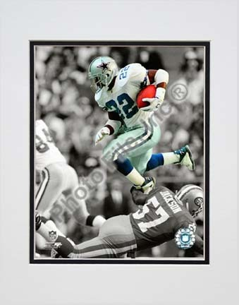 """Emmitt Smith Spotlight Collection """"Hurdle"""" Double Matted 8"""" x 10"""" Photograph (Unframed)"""