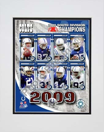 """Indianapolis Colts 2009 AFC South Champions """"Team Composite"""" Double Matted 8"""" x 10"""" Photograph (Unframed)"""