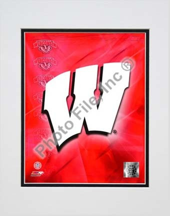 """Wisconsin Badgers 2009 Team Logo Double Matted 8"""" x 10"""" Photograph (Unframed)"""