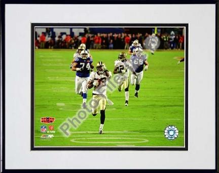 "Tracy Porter ""Action Super Bowl XLIV Interception & Touchdown Return #6"" Double Matted 8"" x 10"" Photog"