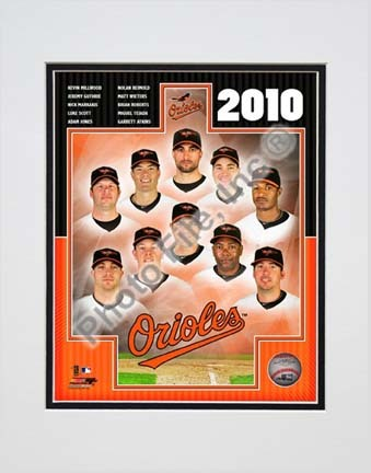 "Baltimore Orioles 2010 ""Team Composite"" Double Matted 8"" x 10"" Photograph (Unframed)"