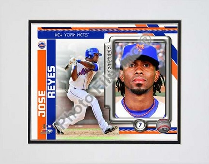 "Jose Reyes 2010 Studio Plus Double Matted 8"" x 10"" Photograph (Unframed)"