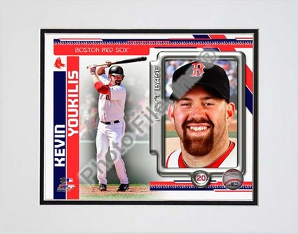 Kevin Youkilis 2010 Studio Plus Double Matted 8� x 10� Photograph (Unframed) PHF-AAMD195-33