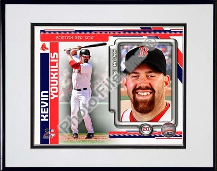 Kevin Youkilis 2010 Studio Plus Double Matted 8� x 10� Photograph in Black Anodized Aluminum Frame PHF-AAMD195-37