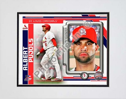 "Sporting Goods Stores Albert Pujols 2010 ""Studio Plus"" Double Matted 8a€ x 10a€ Photograph (Unframed)"