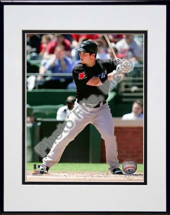 """Travis Snider 2010 Action """"Alternate Jersey"""" Double Matted 8"""" x 10"""" Photograph in Black Anodized Aluminum"""