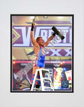 "Jack Swagger Wrestlemania 26 Action Double Matted 8"" x 10"" Photograph (Unframed)"