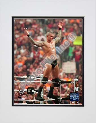 "Randy Orton Wrestlemania 26 Action Double Matted 8"" x 10"" Photograph (Unframed)"