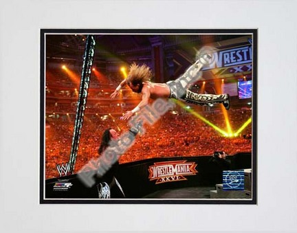 "Shawn Michaels Wrestlemania 26 Action ""Dive"" Double Matted 8"" x 10"" Photograph (Unframed)"