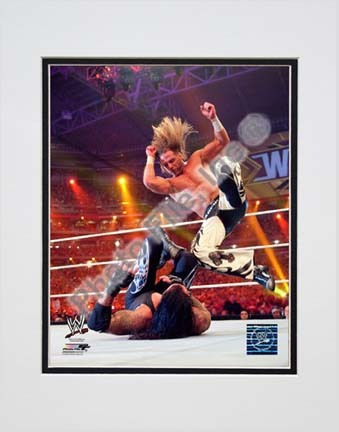 "Shawn Michaels Wrestlemania 26 Action ""Slam"" Double Matted 8"" x 10"" Photograph (Unframed)"