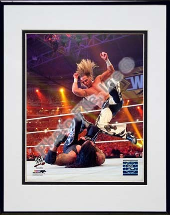 "Shawn Michaels Wrestlemania 26 Action ""Slam"" Double Matted 8"" x 10"" Photograph in Black Anodized Aluminum"