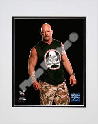 """Stone Cold Steve Austin Posed Double Matted 8"""" x 10"""" Photograph (Unframed)"""