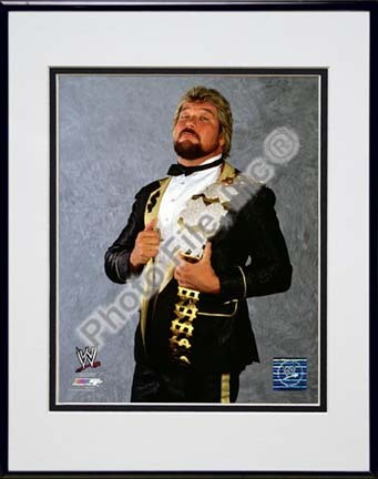 "Ted DiBiase ""The Million Dollar Man"" Double Matted 8"" x 10"" Photograph in Black Anodized Aluminum Frame"