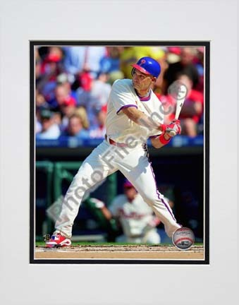 "Raul Ibanez 2010 Action ""Swing"" Double Matted 8"" x 10"" Photograph (Unframed)"