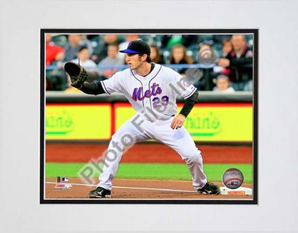 """Ike Davis 2010 Action """"Catch"""" Double Matted 8"""" x 10"""" Photograph (Unframed)"""