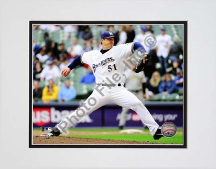 "Trevor Hoffman 2010 Pitching Action ""Pitch Side View"" Double Matted 8"" x 10"" Photograph (Unframed)"