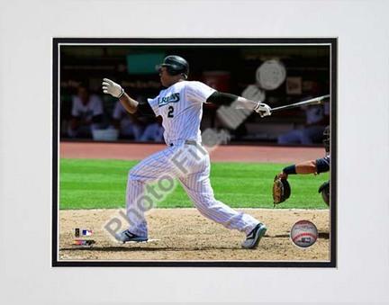 "Hanley Ramirez 2010 Action ""Swing"" Double Matted 8"" x 10"" Photograph (Unframed)"
