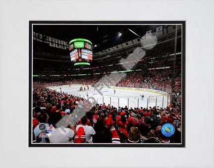 """United Center 2009 - 2010 Playoffs Double Matted 8"""" x 10"""" Photograph (Unframed)"""