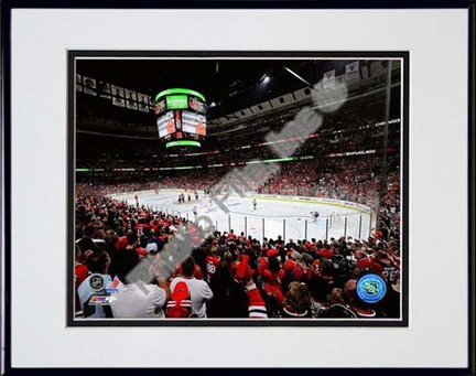 """United Center 2009 - 2010 Playoffs Double Matted 8"""" x 10"""" Photograph in Black Anodized Aluminum Frame"""
