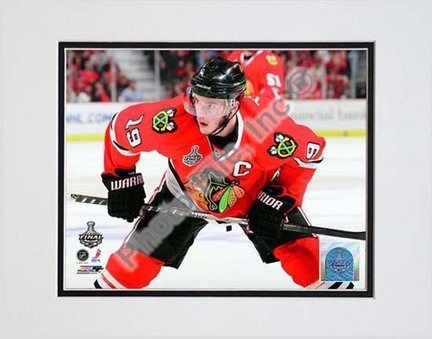 "Jonathan Toews Game One of the 2010 NHL Stanley Cup Finals (#2) Double Matted 8"" x 10"" Photograph (Unframed)"