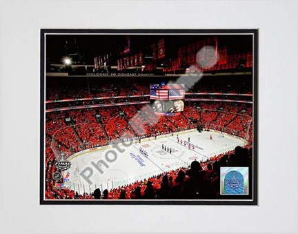 """Wachovia Center 2009 - 2010 NHL Stanley Cup Finals Game 3 (#9) Double Matted 8"""" x 10"""" Photograph (Unframed)"""