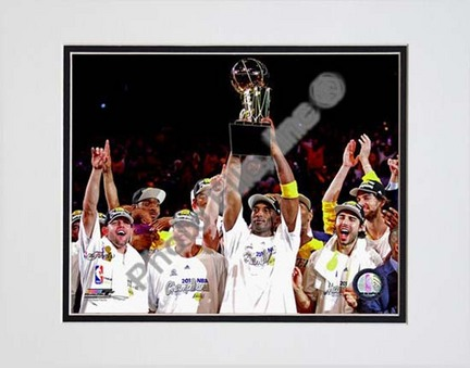 "Los Angeles Lakers 2009 - 2010 NBA Finals Team Celebration (#22) Double Matted 8"" x 10"" Photograph (Unframed)"
