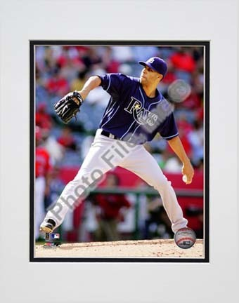 "David Price 2010 Action """"Dark Blue Jersey"""" Double Matted 8� x 10� Photograph (Unframed)"" PHF-AAMK241-33"