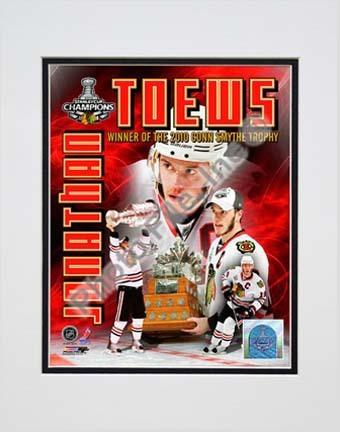 "Jonathan Toews - 2010 Stanley Cup Conn Smythe Portrait Plus (#57) Double Matted 8"" x 10"" Photograph (Unframed)"