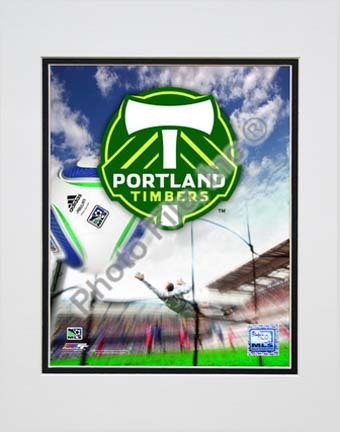 """Portland Timbers 2010 """"Team Logo"""" Double Matted 8"""" x 10"""" Photograph (Unframed)"""