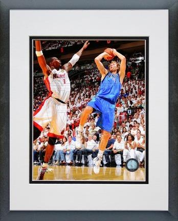 "Dirk Nowitzki Dallas Mavericks 2011 NBA Finals ""Game 6"" Action Double Matted 8"" X 10"" Photograph in"