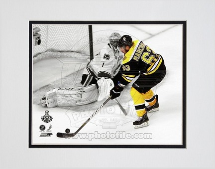 "Brad Marchand Boston Bruins 2011 NHL Stanley Cup Finals ""Game 3"" Spotlight Action Double Matted 8"" X 10&q"